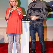 NLD/Hilversum/20121207 - Skyradio Christmas Tree, Minke Booij en Johan Kenkhuis
