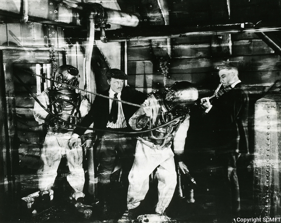 1924 Filming at Famous Players Lasky Studios in Hollywood