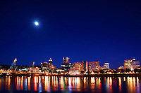Portland Skyline & Willamette River @ Twilight (2)