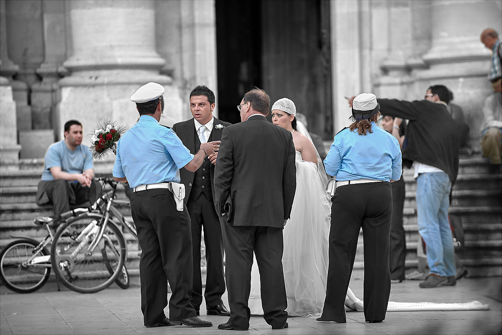 SERIES - SIGHTINGS SIRACUSA WEDDING by PAUL WILLIAMS- Cathedral wedding  Syracuse Sicily Siracusa Wedding Sicily is a selective colour street photography series by photographer Paul Williams showing the people attending a traditional Sicilian wedding at Siracusa Duomo. Taken in  2009 .<br /> <br /> Visit our DAY TRIPPER PHOTO COLLECTIONS for more photos to buy as buy as wall art prints https://funkystock.photoshelter.com/gallery-collection/DAY-TRIPPER-Street-Art-Photography-Series-by-Photographer-Paul-Williams/C0000JflvyZIhabE .<br /> <br /> Visit our REPORTAGE & STREET PEOPLE PHOTO ART PRINT COLLECTIONS for more wall art photos to browse https://funkystock.photoshelter.com/gallery-collection/People-Photo-art-Prints-by-Photographer-Paul-Williams/C0000g1LA1LacMD8