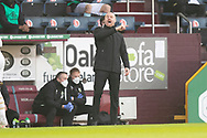 Burnley manager Sean Dyche during the FA Cup match between Burnley and Milton Keynes Dons at Turf Moor, Burnley, England on 9 January 2021.