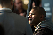 DALLAS, TX - MARCH 12:  Alistair Overeem speaks with the media during the UFC 185 Ultimate Media Day at the American Airlines Center on March 12, 2015 in Dallas, Texas. (Photo by Cooper Neill/Zuffa LLC/Zuffa LLC via Getty Images) *** Local Caption *** Alistair Overeem