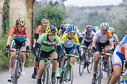 The next group on the road haven't given up hope - 2016 Strade Bianche - Elite Women, a 121km road race from Siena to Piazza del Campo on March 5, 2016 in Tuscany, Italy.