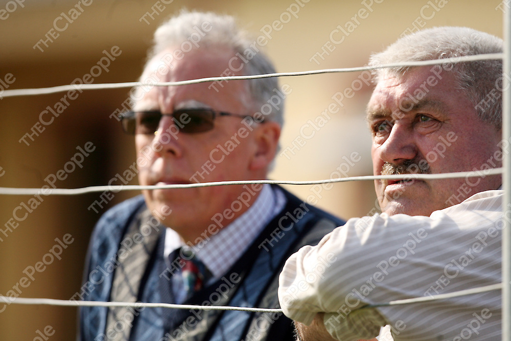 Tony Killeen and Bill Chambers enjoying hte Corofin V Cooraclare game in Miltown on Saturday.<br /> Photograph by Yvonne Vaughan