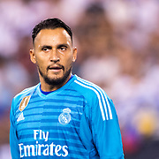 MEADOWLANDS, NEW JERSEY- August 7:  Goalkeeper Keylor Navas #1 of Real Madrid during the Real Madrid vs AS Roma International Champions Cup match at MetLife Stadium on August 7, 2018 in Meadowlands, New Jersey. (Photo by Tim Clayton/Corbis via Getty Images)