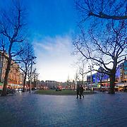 NLD/Amsterdam/20150327 - Het Leidsplein in Amsterdam in de avondschemering