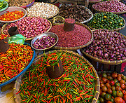 Spices at Tomohon extreme market, Minahasa, northern Sulawesi, Indonesia.