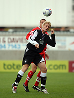 Photo: Chris Ratcliffe.<br />Leyton Orient v Swansea City. Coca Cola League 1. 26/08/2006.<br />Gary Alexander (BEHIND) of Leyton Orient clashes with Alan Tate of Swansea.