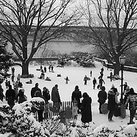New York City scenes in the snow all around the borough of Manhattan