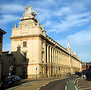 Alfred Gelder street with the Guildhall, Hull, Yorkshire, England