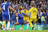 Chelsea midfielder Ruben Loftus-Cheek (14) holding up ball during the EFL Cup match between Chelsea and Bristol Rovers at Stamford Bridge, London, England on 23 August 2016. Photo by Matthew Redman.