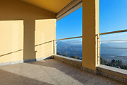 architecture, terrace of a modern building, panoramic view