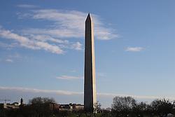 THEMENBILD - Das 169 Meter hohe Washington Monument ist das hoechste Steinbauwerk der Erde. Reisebericht, aufgenommen am 12. Jannuar 2016 in Washington D.C. // The 169-meter-high Washington Monument is the tallest stone structure in the world. Travelogue, Recorded January 12, 2016 in Washington DC. EXPA Pictures © 2016, PhotoCredit: EXPA/ Eibner-Pressefoto/ Hundt<br /> <br /> *****ATTENTION - OUT of GER*****