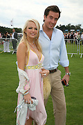 Hannah Sandling and Oliver Felstead, Cartier International Polo. Guards Polo Club. Windsor Great Park. 29 July 2007.  -DO NOT ARCHIVE-© Copyright Photograph by Dafydd Jones. 248 Clapham Rd. London SW9 0PZ. Tel 0207 820 0771. www.dafjones.com.