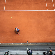 PARIS, FRANCE October 09. Yui Kamiji of Japan in action against Momoko Ohtani of Japan in the Women's Wheelchair Singles Final during the French Open Tennis Tournament at Roland Garros on October 9th 2020 in Paris, France. (Photo by Tim Clayton/Corbis via Getty Images)