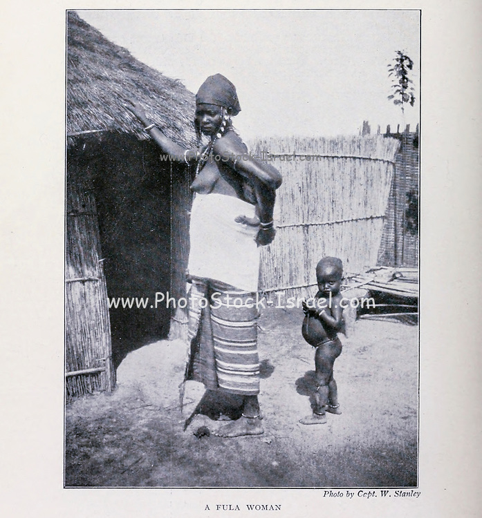 A Fula Woman, Sokoto Nigeria From the Book '  Britain across the seas : Africa : a history and description of the British Empire in Africa ' by Johnston, Harry Hamilton, Sir, 1858-1927 Published in 1910 in London by National Society's Depository