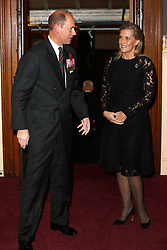 Sophie, Countess of Wessex and the Earl of Wessex, arrive for the annual Royal British Legion Festival of Remembrance at the Royal Albert Hall in London, which commemorates and honours all those who have lost their lives in conflicts.