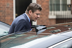 Downing Street, London, January 10th 2017. Secretary of State for Business, Energy and Industrial Strategy Greg Clark leaves the weekly UK cabinet meeting at 10 Downing Street as the new Parliamentary term begins.