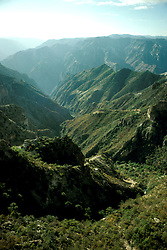 "Mexico: ""Grand Canyon""..Unique branch of Copper Canyons, Barranca del Cobre, Sierra Madre Occidental..Photo copyright Lee Foster, www.fostertravel.com, .Photo #: mxtara101, 510/549-2202, lee@fostertravel.com"