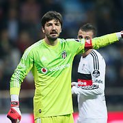 Besiktas's goalkeeper Tolga Zengin during their Turkish superleague soccer match Kayserispor Erciyesspor between Besiktas at Kadir Has Stadium in Kayseri Turkey on Monday 27 October 2014. Photo by Aykut AKICI/TURKPIX