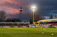 A general view ahead of the EFL Sky Bet League 2 match between Crawley Town and Walsall at The People's Pension Stadium, Crawley, England on 16 March 2021.