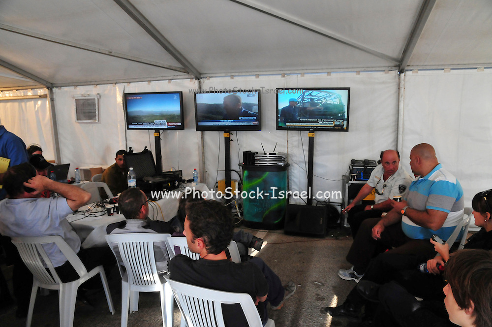 Israel, Carmel forest fire command post