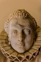 Statue of 17th century Governor's wife (Dona Clare del Rosal Alarcon), History Museum, Loja, Granada Province, Andalusia, Spain.