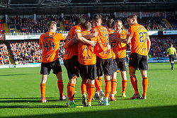 Dundee United's Paul McMullan celebrates after scoring their fifth goal. Dundee United 6 v 0 Morton, Scottish Championship game played 28/9/2019 at Dundee United's stadium Tannadice Park.