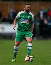 Leatherhead's player manager Sammy Moore in action