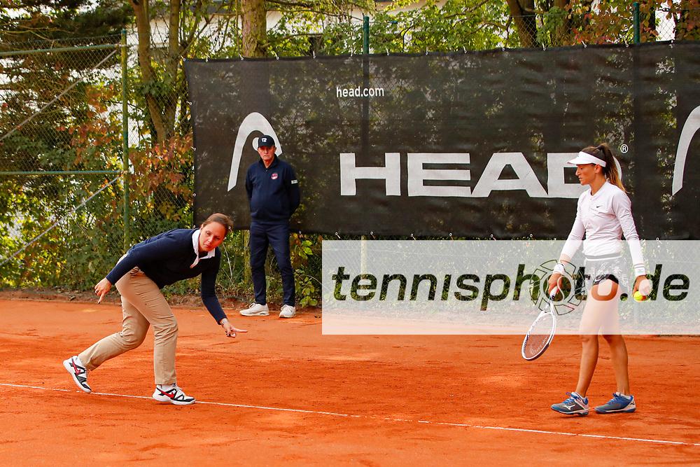Eva Rungaldier (AUT), Alexandra Ignatik (ROU) - WTO Wiesbaden Tennis Open - ITF World Tennis Tour 80K, 21.9.2021, Wiesbaden (T2 Sport Health Club), Deutschland, Photo: Mathias Schulz