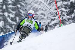 Slivnik Jernej from Slovenia during Slalom race at 2019 World Para Alpine Skiing Championship, on January 23, 2019 in Kranjska Gora Slovenia. Photo by Matic Ritonja / Sportida