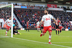 3 December 2017 -  Premier League - Bournemouth v Southampton - Charlie Austin of Southampton gestures to the Bournemouth fans as he celebrates his goal - Photo: Marc Atkins/Offside