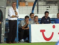 Zuerich Trainer Bernard Challandes, Assistenztrainer Urs Fischer und Sportchef Fredy Bickel © Andy Mueller/EQ Images