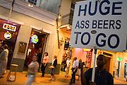 19 SEPTEMBER 2006 - NEW ORLEANS, LOUISIANA: A shill for a bar works Bourbon Street in New Orleans. Photo by Jack Kurtz / ZUMA Press