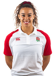 Deborah Fleming of England Rugby 7s - Mandatory by-line: Robbie Stephenson/JMP - 17/09/2019 - RUGBY - The Lansbury - London, England - England Rugby 7s Headshots
