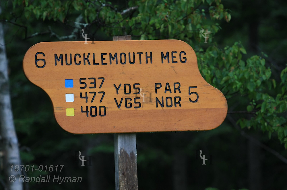 Highlands Links Golf Course features rugged terrain melded with natural environment near Keltic Lodge at Ingonish Beach; Cape Breton Island, Nova Scotia, Canada.