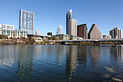 Reflection of the downtown high-rises in Lady Bird Lake, South Austin