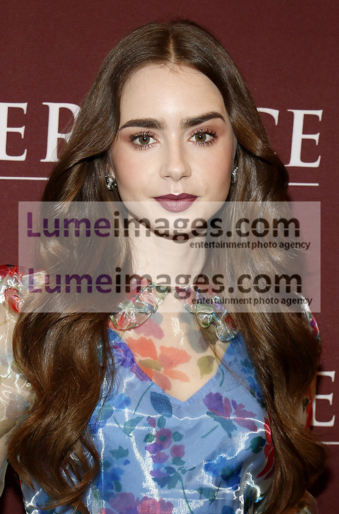 Lily Collins at the 'Les Miserables' Photo Call held at the Linwood Dunn Theater in Hollywood, USA on June 8, 2019.