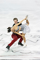 KELOWNA, BC - OCTOBER 26: Russian figure skaters Betina Popova and Sergey Mozgov compete during ice dance free dance of Skate Canada International held at Prospera Place on October 26, 2019 in Kelowna, Canada. (Photo by Marissa Baecker/Shoot the Breeze)