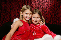 27 November 2010:  Rex, Lilah (8) and Charlotte (5) Fontenot in studio for portrait session.