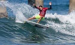 July 31, 2018 - Huntington Beach, California, United States - Huntington Beach, CA - Tuesday July 31, 2018: Luel Felipe in action during a World Surf League (WSL) Qualifying Series (QS) Men's round of 96 heat at the 2018 Vans U.S. Open of Surfing on South side of the Huntington Beach pier. (Credit Image: © Michael Janosz/ISIPhotos via ZUMA Wire)