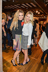 Left to right, TALLIA STORM and MOLLIE KING at an exclusive out of hours shopping evening 'Gifts for Goddesses' hosted by Mollie King in aid of mothers2mothers held at Liberty, Regent Street, London on 2nd March 2016.