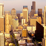 Skyline of Seattle, Washington in the late afternoon
