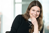 12 MAR 2020, BERLIN/GERMANY:<br /> Luisa Neubauer, Klimaschutzaktivistin, Fridays for Future, waehrend einem Interview, Redaktion Rheinische Post<br /> IMAGE: 20200312-01-066