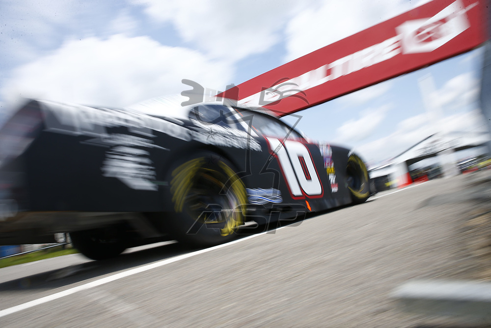 Austin Dillon (10) takes to the track to practice for the Pocono Green 250 at Pocono Raceway in Long Pond, Pennsylvania.