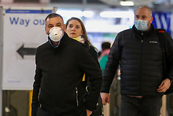 © Licensed to London News Pictures. 06/03/2020. London, UK. People wear protective face masks in Westminster as two coronavirus victims have died and 163 cases have tested positive for the virus. Photo credit: Dinendra Haria/LNP