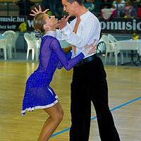 István Kunhalmi & Henrietta Szirmai perform their latin dance during the Tendance Hungarian National Championships organized by MTASZ held in Vac City Sports Hall, Vac, Hungary, Sunday, 05. October 2008. ATTILA VOLGYI