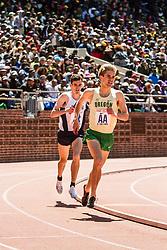 Penn Relays, College men 4 x mile relay, 3rd leg, Will Geoghegan, Oregon, Patrick Tiernan, Villanova