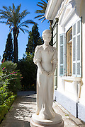Statue of Kaiserin Elisabeth Von Osterreich Empress of Austria at Achilleion Palace, Museo Achilleio, in Corfu, Greece