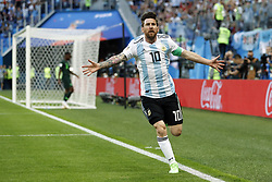 Lionel Messi of Argentina during the 2018 FIFA World Cup Russia group  D match between Nigeria and Argentina at the Saint Petersburg Stadium on June 26, 2018 in Saint Petersburg, Russia